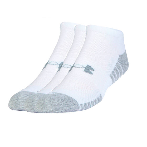 Under Armour Kids HeatGear Low Cut Socks 3 Pack, White, rebel_hi-res