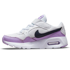 Nike Air Max SC Kids Casual Shoes White/Purple US 11, White/Purple, rebel_hi-res