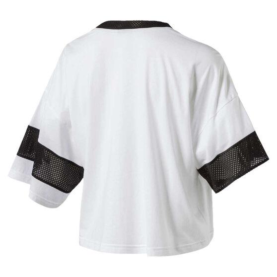 6f7e2320bc6 Puma Womens Urban Sports Cropped Tee White XS, White, rebel_hi-res