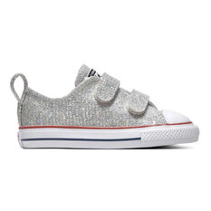 Converse Chuck Taylor All Star 2V Toddlers Shoes Silver / White US 4, Silver / White, rebel_hi-res