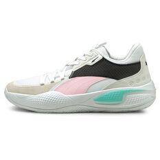 Puma Court Rider Summer Days Basketball Shoes White US 8, White, rebel_hi-res
