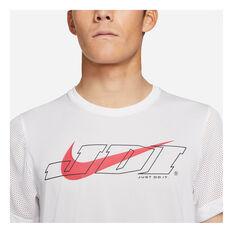 Nike Mens Sport Clash Training Tee White M, White, rebel_hi-res