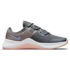 Nike MC Trainer Womens Training Shoes Grey/Blue US 6, Grey/Blue, rebel_hi-res