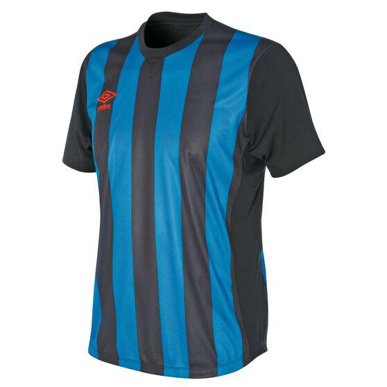 Umbro Kids Striped Jersey, Royal Blue / Black, rebel_hi-res