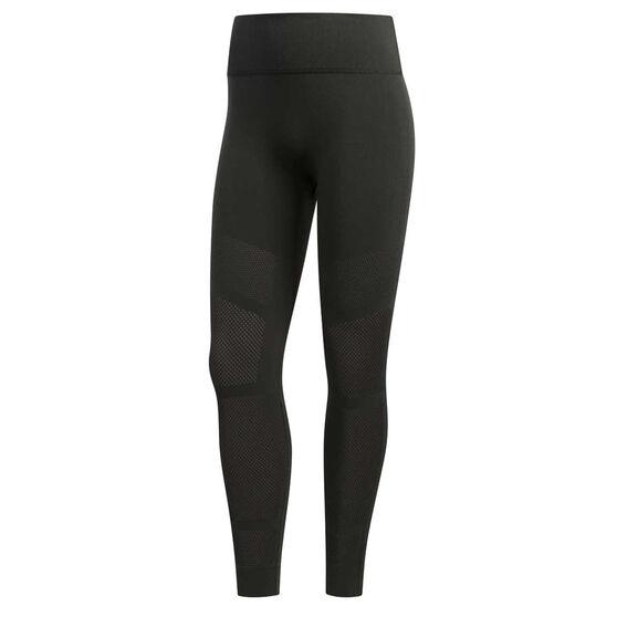 adidas Womens Warp Knit 7 / 8 Tights Grey L, Grey, rebel_hi-res