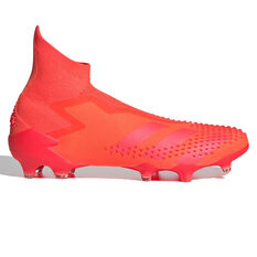 adidas Predator Dracon 20+ Football Boots Orange/White US Mens 5 / Womens 6, Orange/White, rebel_hi-res