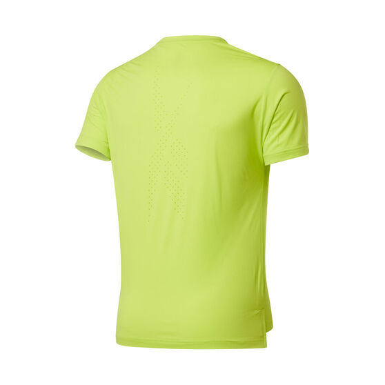 Reebok Mens United By Fitness Perforated Tee, Yellow, rebel_hi-res