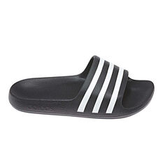 adidas Adilette Kids Slides Black US 11, Black, rebel_hi-res
