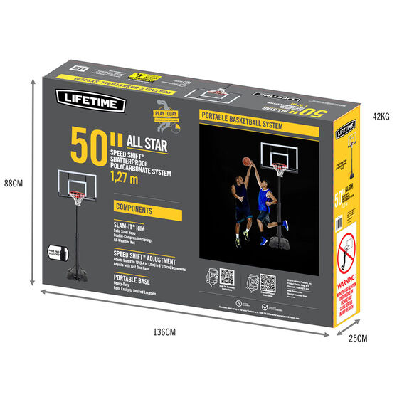 "Lifetime 50"" All Star Basketball System, , rebel_hi-res"