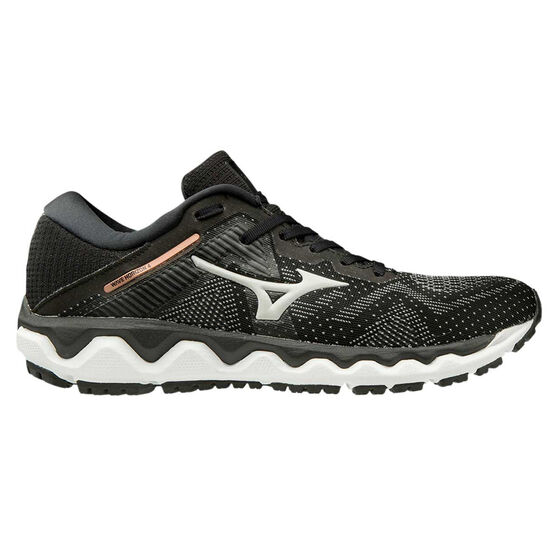 Mizuno Wave Horizon 4 Womens Running Shoes, Black / White, rebel_hi-res