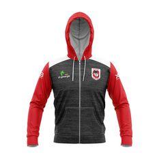 St George Illawarra Dragons 2019 Mens Team Hoodie Black / Red S, Black / Red, rebel_hi-res