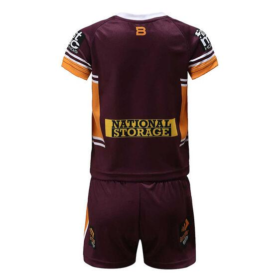 Brisbane Broncos 2020 Infants Home Kit, Maroon, rebel_hi-res