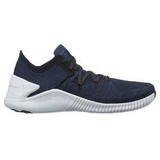 Nike Free TR Flyknit 3 Metallic Womens Training Shoes Navy / White US 6, Navy / White, rebel_hi-res