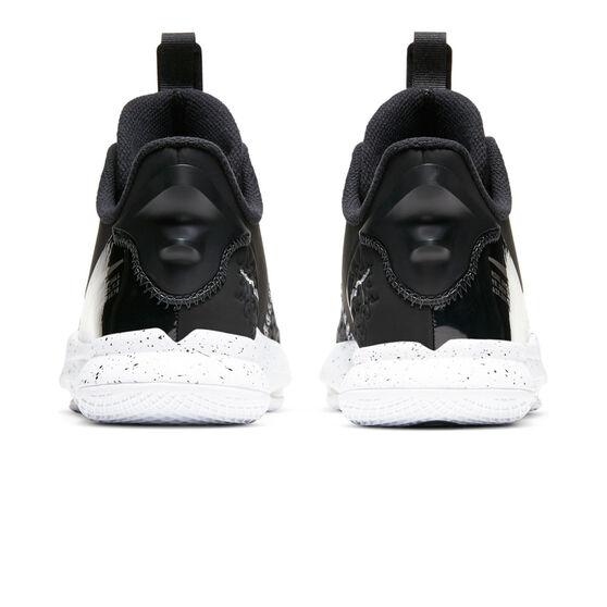 Nike LeBron Witness V Black Metallic Silver Kids Basketball Shoes, Black/Silver, rebel_hi-res