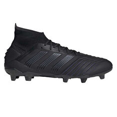 adidas Predator 19.1 Football Boots Black US Mens 7 / Womens 8, Black, rebel_hi-res