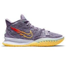 Nike Kyrie 7 Kids Basketball Shoes Purple US 7, Purple, rebel_hi-res