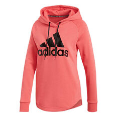 adidas Womens Must Haves Badge Of Sport Hoodie Pink XS, Pink, rebel_hi-res