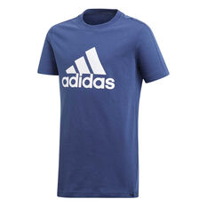 adidas Boys Logo Tee Blue 6, Blue, rebel_hi-res