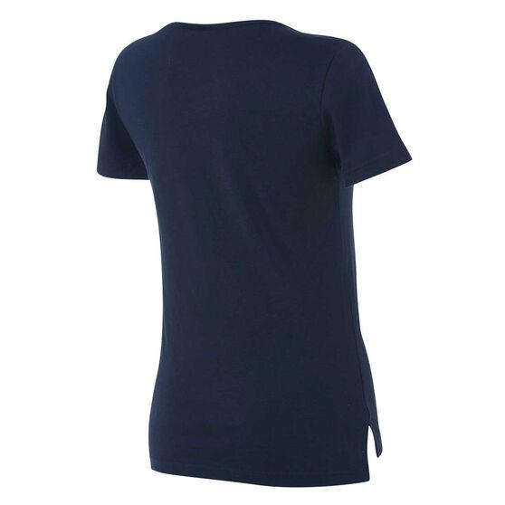 adidas Womens Linear 2 Tee Navy XS, Navy, rebel_hi-res