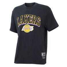 Los Angeles Lakers Mens Vintage Keyline Tee Black S, Black, rebel_hi-res