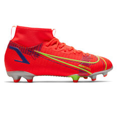 Nike Mercurial Superfly 8 Academy Kids Football Boots Crimson US 1, Crimson, rebel_hi-res