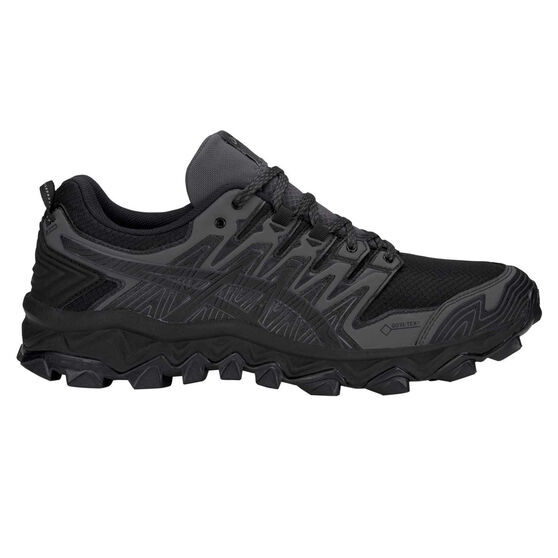 Asics Gel Fuji Trabuco 7 G TX Mens Trail Running Shoes Black / Grey US 8, Black / Grey, rebel_hi-res