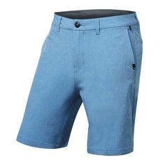 Quiksilver Mens Union Heather Amphibian Shorts Blue 30, Blue, rebel_hi-res