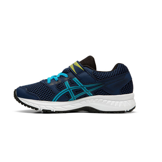 Asics Contend 5 Kids Running Shoes Navy / White US 11, Navy / White, rebel_hi-res