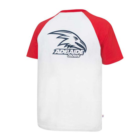 Adelaide Crows Mens Raglan Sleeve Tee M, , rebel_hi-res