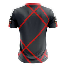 St George Illawarra Dragons 2019 Mens Preseason Training Tee Grey / Red S, Grey / Red, rebel_hi-res