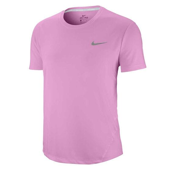 Nike Womens Miler Running Tee, Pink, rebel_hi-res