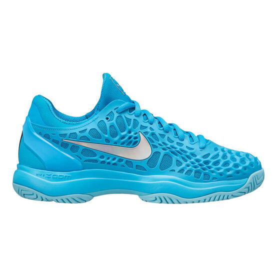 Nike Zoom Cage 3 Womens Tennis Shoes Blue / Silver US 8.5, Blue / Silver, rebel_hi-res