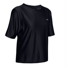 Under Armour Womens Armour Sport Tee Black XS, Black, rebel_hi-res