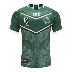 Maori All Stars 2020 Mens Home Jersey Green S, Green, rebel_hi-res