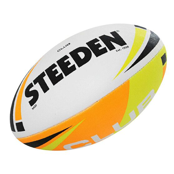 Steeden Club Rugby League Ball, Multi, rebel_hi-res