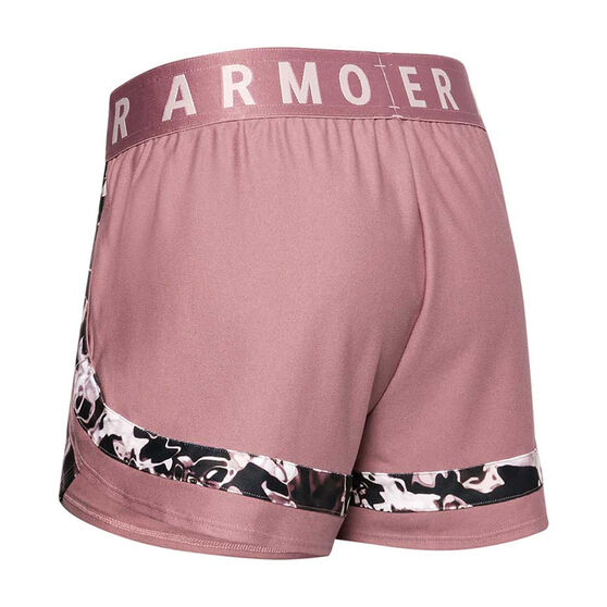 Under Armour Womens Play Up 3.0 Printed Shorts, Pink, rebel_hi-res