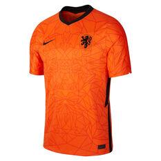 Netherlands 2020 Mens Stadium Home Jersey Orange S, Orange, rebel_hi-res
