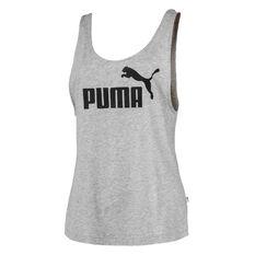 Puma Womens Essentials Logo Tank Grey XS, Grey, rebel_hi-res