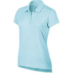 NikeCourt Womens Pure Tennis Polo Topaz XS, Topaz, rebel_hi-res