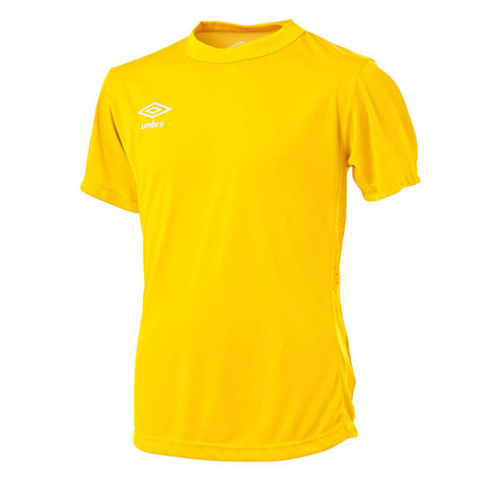 Umbro Kids League Knit Jersey, Yellow, rebel_hi-res