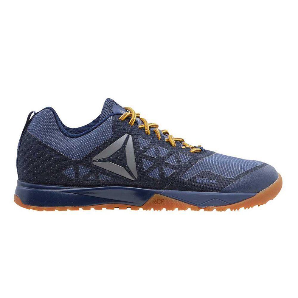 Reebok CrossFit Nano 6.0 Denim Womens Training Shoes Navy   Yellow US 6 98e90600a
