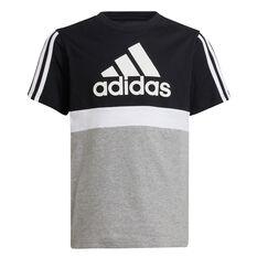 adidas Boys Essentials Colourblock Tee Black/Grey 8, Black/Grey, rebel_hi-res