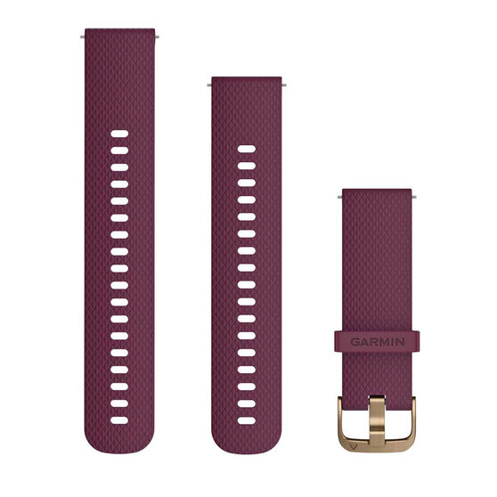 Garmin Quick Release 20mm Berry / Light Gold Watch Band 2 sizes, , rebel_hi-res