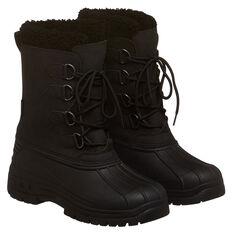 Tahwalhi Park Mens Snow Boots Black US 7, Black, rebel_hi-res