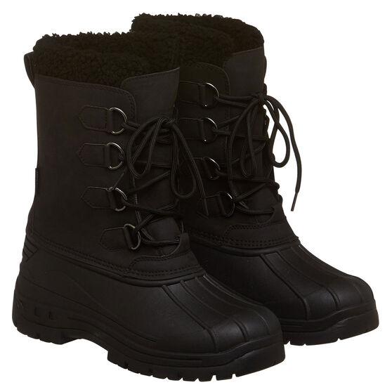 Tahwalhi Park Mens Snow Boots, Black, rebel_hi-res