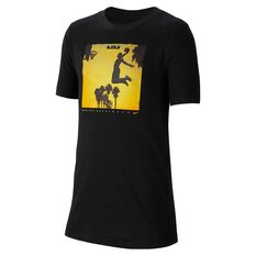Nike Dri-FIT Boys Basketball Tee Black XS, Black, rebel_hi-res