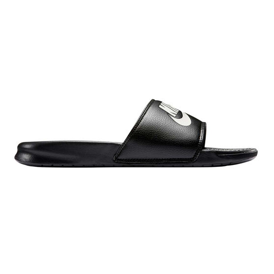 Nike Benassi Mens Slides Black   White 9  d73bf07d9d