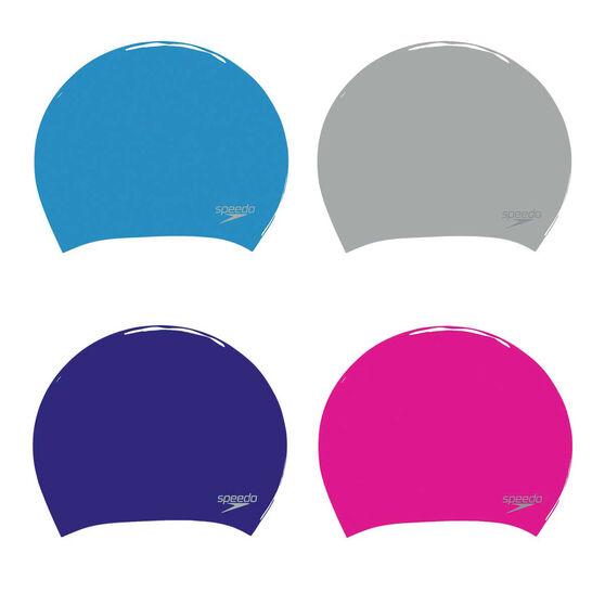 Speedo Bright Long Hair Swim Cap, , rebel_hi-res