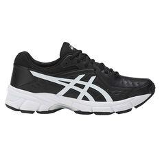 Asics GEL 195TR Leather D Womens Training Shoes Black / White US 6, Black / White, rebel_hi-res