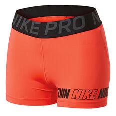 9b57c7b43b89d Nike Womens Pro Distort 3in Shorts Red / Black XS, Red / Black, rebel_hi